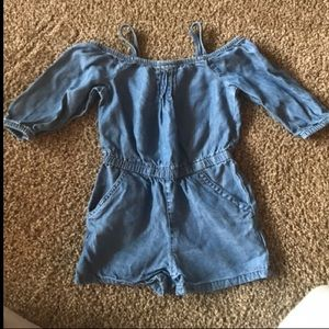 Girls jean romper. PERFECT CONDITION